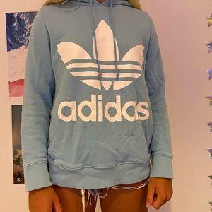 blue addias sweatshirt